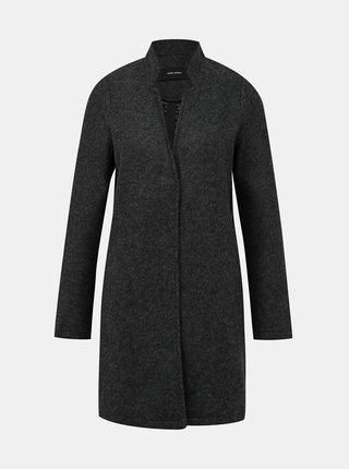 Tmavošedý ľahký kabát VERO MODA Brushedka