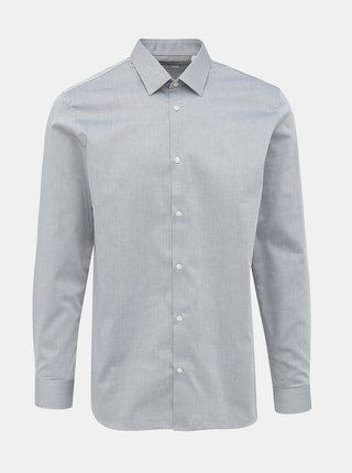Šedá slim fit košeľa Jack & Jones Non Iron