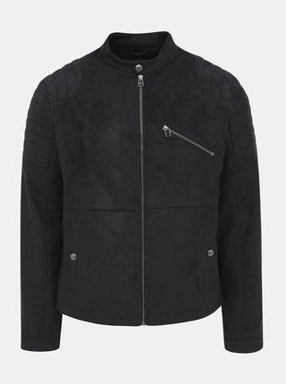 Černá bunda v semišové úpravě Jack & Jones Rick