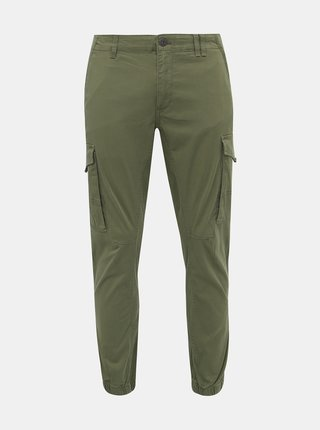 Zelené tapered nohavice Jack & Jones Paul