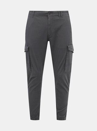 Šedé tapered fit kalhoty Jack & Jones Paul