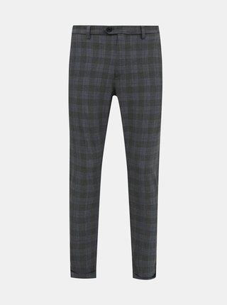 Šedé kostkované kalhoty Jack & Jones Marco