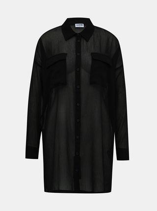 Čierna priesvitná košeľa Noisy May Neno