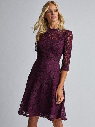 Fialové krajkové šaty Dorothy Perkins