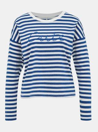 Bielo-modré pruhované tričko ONLY Rosely
