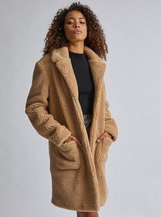 Béžový kabát z umelej kožušiny Dorothy Perkins Tall