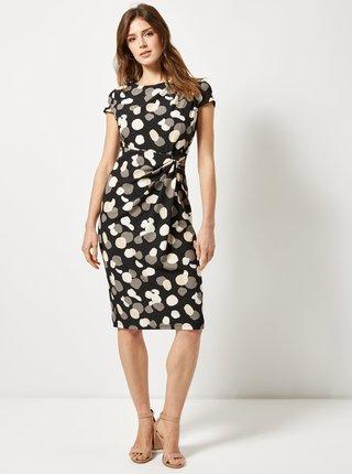 Čierne bodkované puzdrové šaty Lily & Franc by Dorothy Perkins