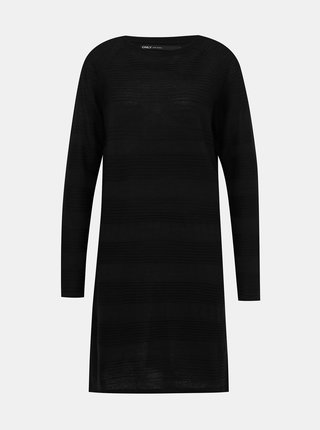 Čierne svetrové šaty ONLY Caviar