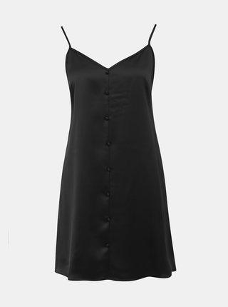 Černé saténové šaty Miss Selfridge