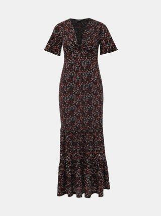 Červeno-čierne kvetované maxišaty Miss Selfridge