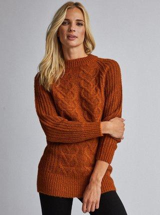 Hnedý sveter Dorothy Perkins