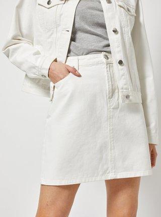 Bílá džínová sukně Dorothy Perkins