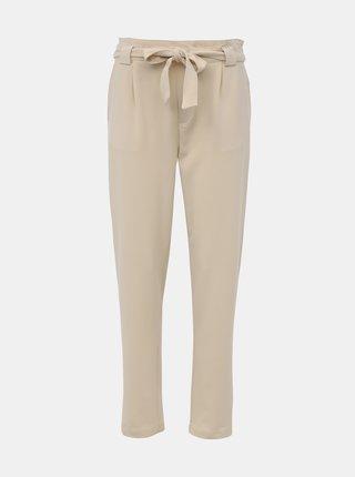 Krémové kalhoty Jacqueline de Yong Dakota
