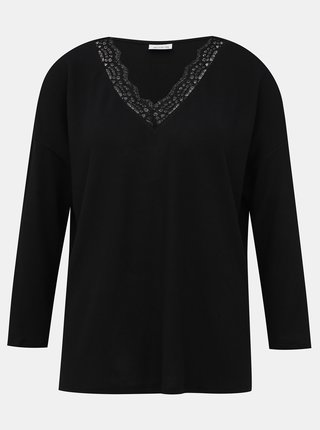 Čierny sveter s krajkou Jacqueline de Yong Choice