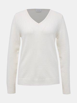 Bílý basic svetr VILA Ril