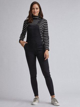 Čierne riflové nohavice na traky Dorothy Perkins