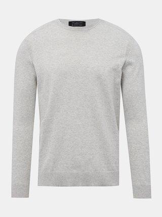 Světle šedý basic svetr Selected Homme Daniel