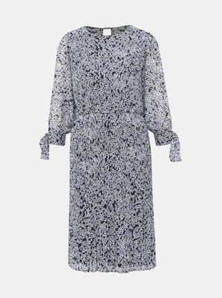 Modré kvetované šaty VILA Moltan