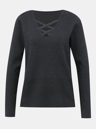 Tmavošedý sveter VILA Lacal