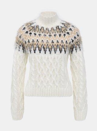 Biely vzorovaný sveter TALLY WEiJL