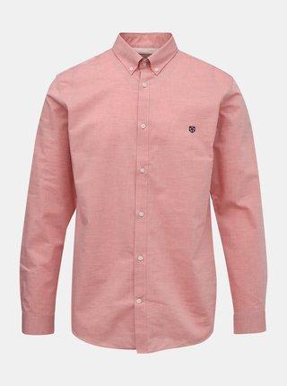 Růžová slim fit košile Jack & Jones Bla