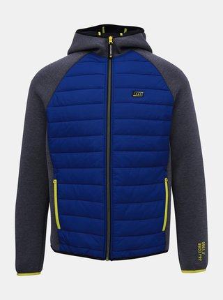 Šedo-modrá prešívaná bunda Jack & Jones Toby