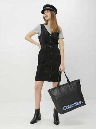 Čierne menčestrové šaty VERO MODA Ayoe