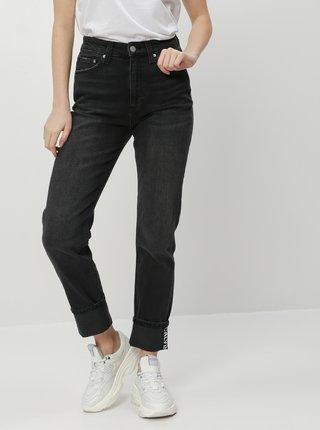 Tmavošedé slim fit rifle Calvin Klein Jeans