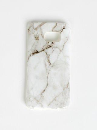 Bílý vzorovaný obal na Samsung Galaxy S7 Haily´s Marbel