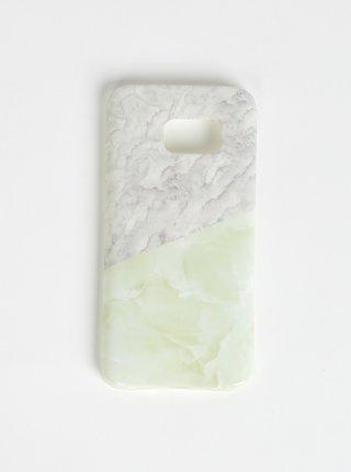 Světle zelený vzorovaný obal na Samsung Galaxy S7 Haily´s Marbel