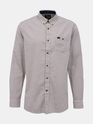 Béžová kockovaná košeľa Raging Bull