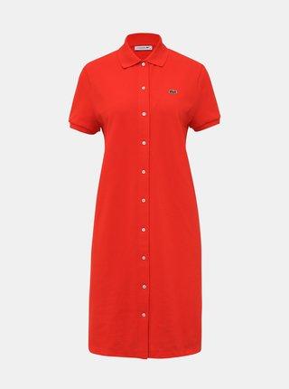 Červené šaty Lacoste