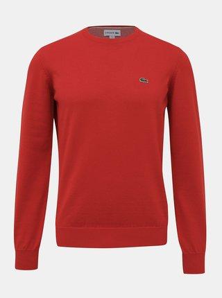 Červený pánský basic svetr Lacoste
