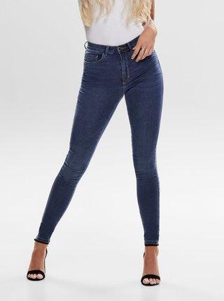 Modré skinny fit džíny s vysokým pasem ONLY Royal