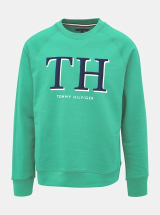 Zelená pánska mikina Tommy Hilfiger Monogram