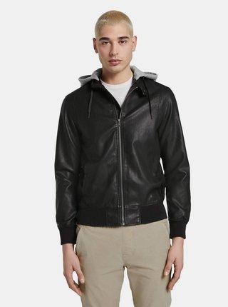 Černá pánská koženková bunda Tom Tailor Denim