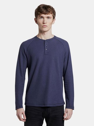 Tmavomodré pánske basic tričko Tom Tailor Denim