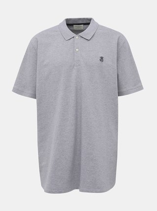 Světle šedé basic polo tričko Selected Homme Haro