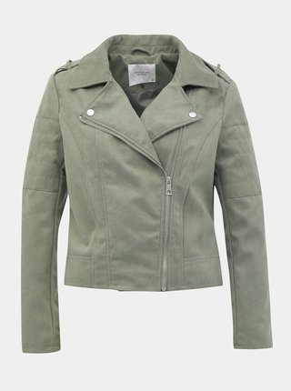Jachete din piele naturala si sintetica pentru femei Jacqueline de Yong - verde
