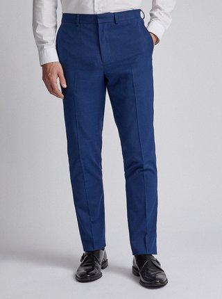 Modré oblekové slim fit nohavice Burton Menswear London