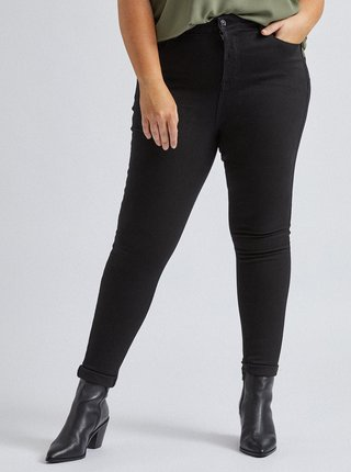 Černé skinny fit džíny Dorothy Perkins Curve