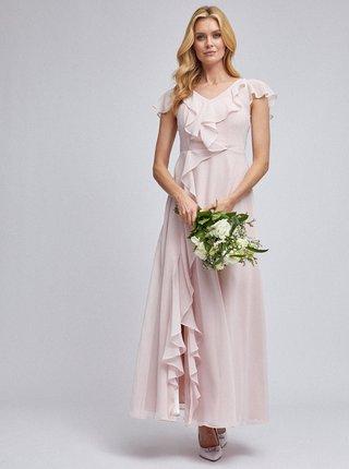 Svetloružové maxi šaty Dorothy Perkins