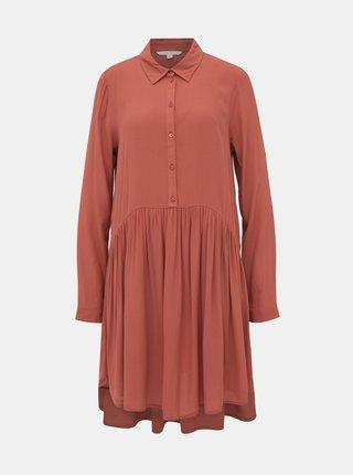 Tehlové košeľové šaty Tom Tailor Denim