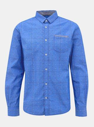 Modrá pánská vzorovaná regular fit košile Tom Tailor