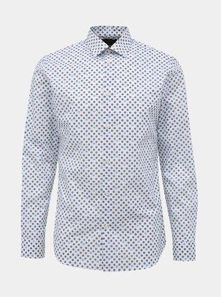 Modro-biela vzorovaná slim fit košeľa Selected Homme Marvin