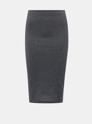 Šedá púzdrová basic midi sukňa Noisy May Anja