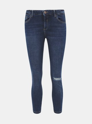 Modré zkrácené skinny fit džíny Dorothy Perkins Darcy