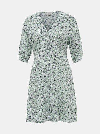 Svetlozelené kvetované šaty Miss Selfridge