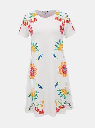 Bílé květované šaty Desigual Dallas