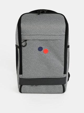 Šedý vzorovaný batoh pinqponq Cubik 19 l